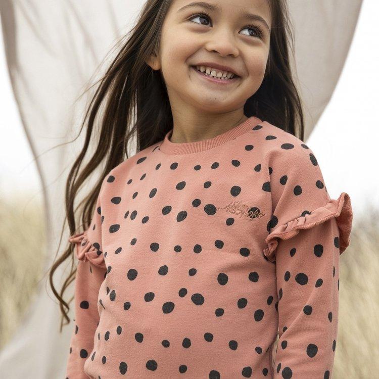 Koko Noko girls sweater Nova dusky pink dots   N902
