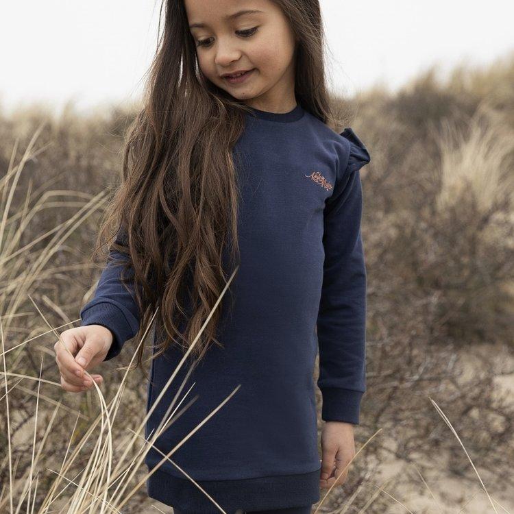 Koko Noko meisjes jurk Nena donkerblauw | N905
