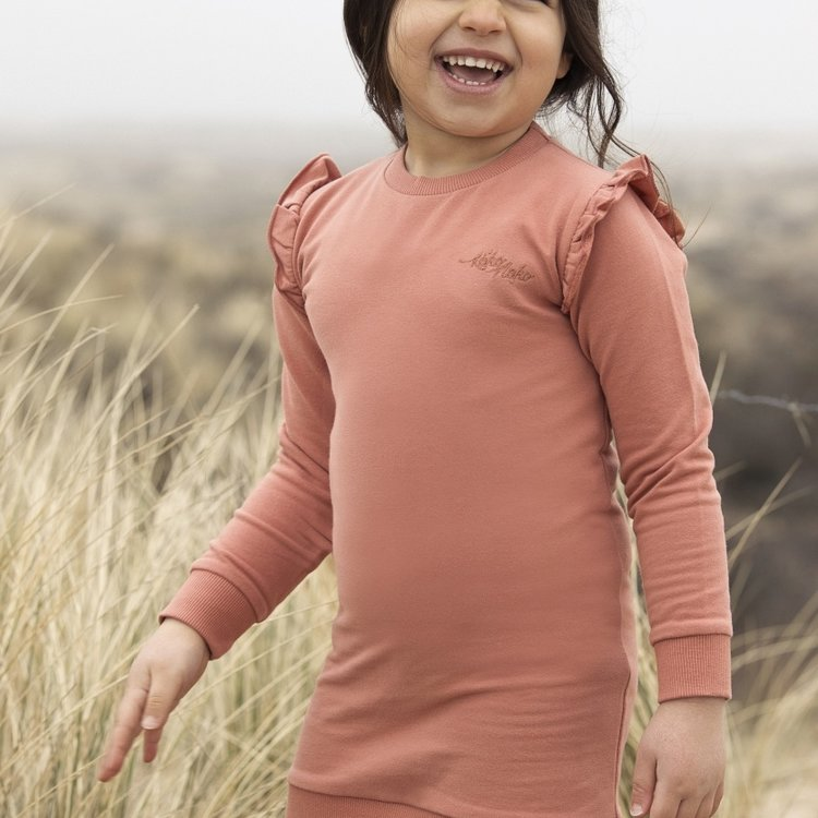 Koko Noko girls dress Nena dusky pink | N906