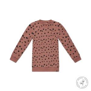 Koko Noko girls dress Nathalie dusky pink dots