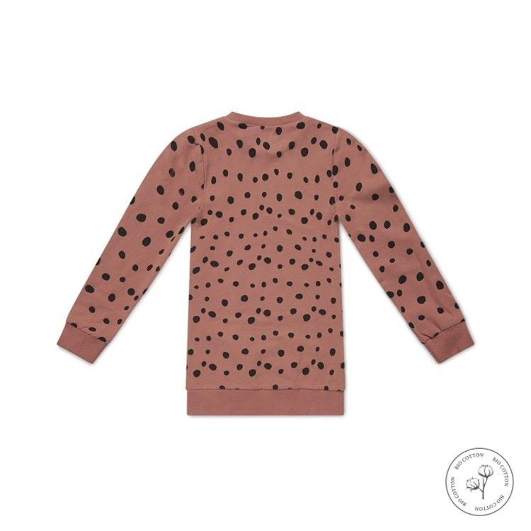 Koko Noko girls dress Nathalie dusky pink dots | N907