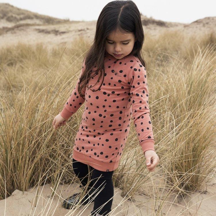 Koko Noko meisjes jurk Nathalie oudroze stipjes | N907