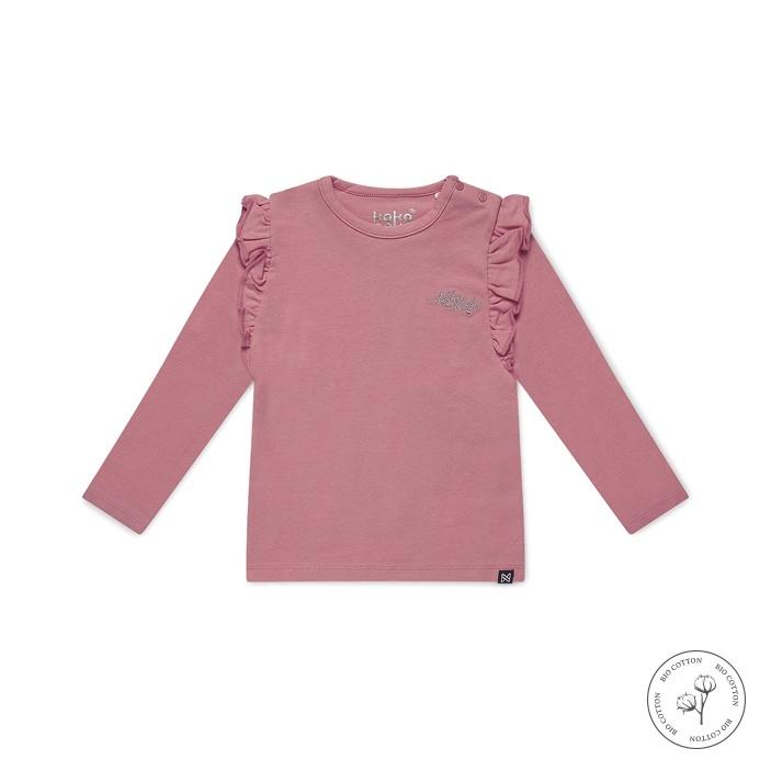 Koko Noko Meisjes Shirt Lange Mouw Nykee  Roze