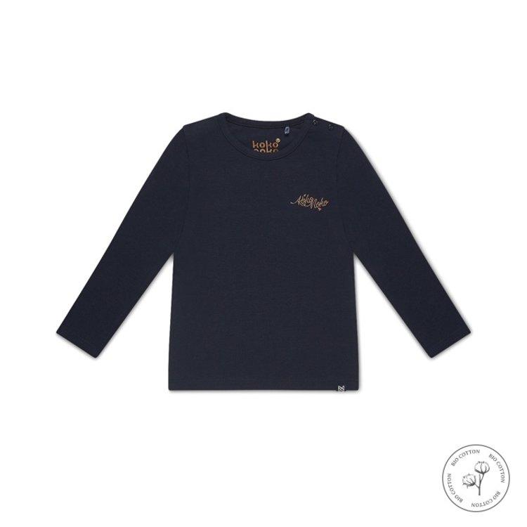 Koko Noko girls shirt long sleeves Norah navy | N912