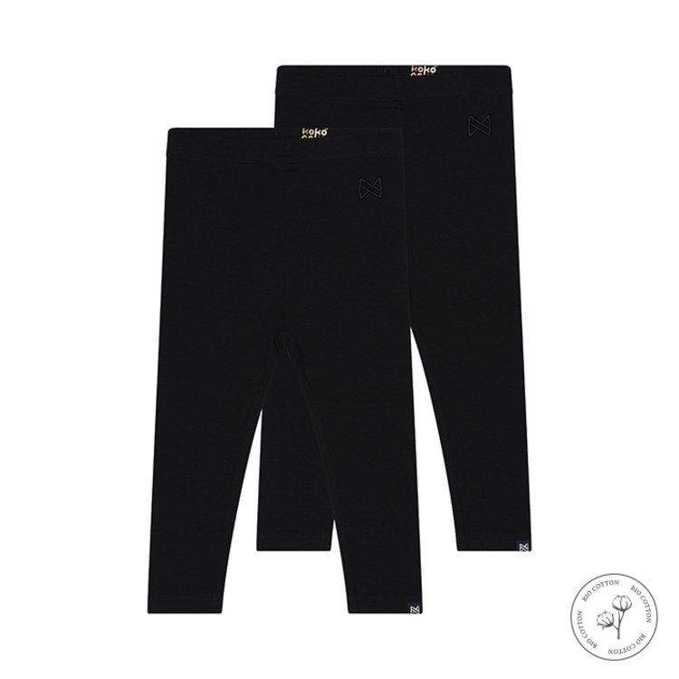 Koko Noko meisjes legging Nadia zwart 2-pack   N918