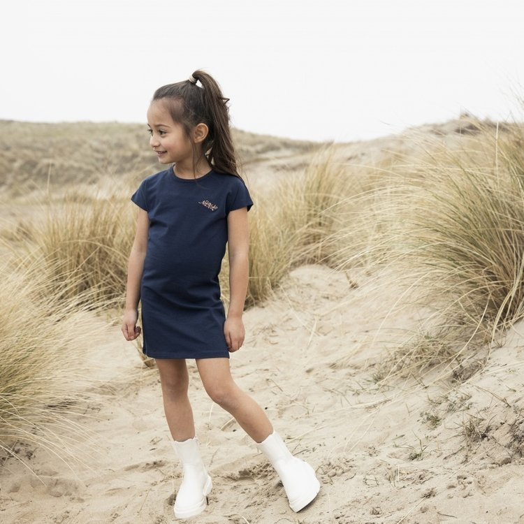 Koko Noko meisjes jurk Niya donkerblauw   N920