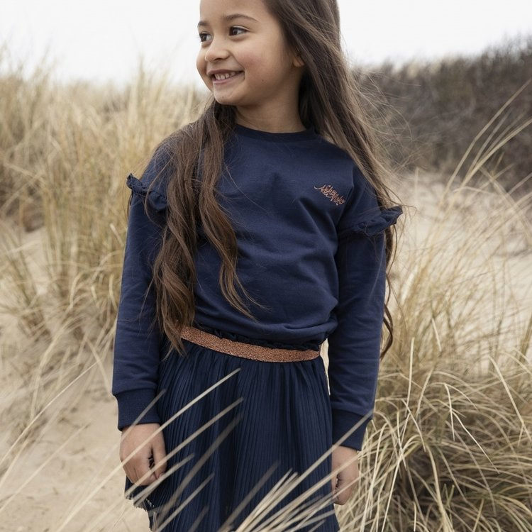 Koko Noko meisjes plissérok Nika donkerblauw | N921