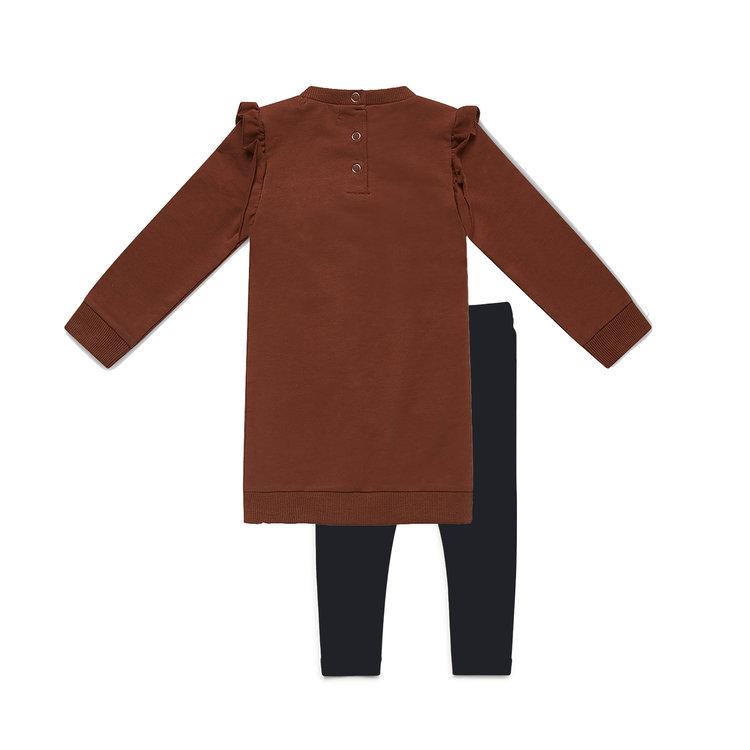 Koko Noko meisjes 2-delige set jurk met legging | E38980-37