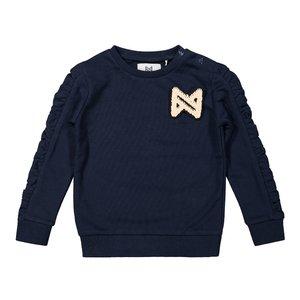 Koko Noko meisjes sweater donkerblauw