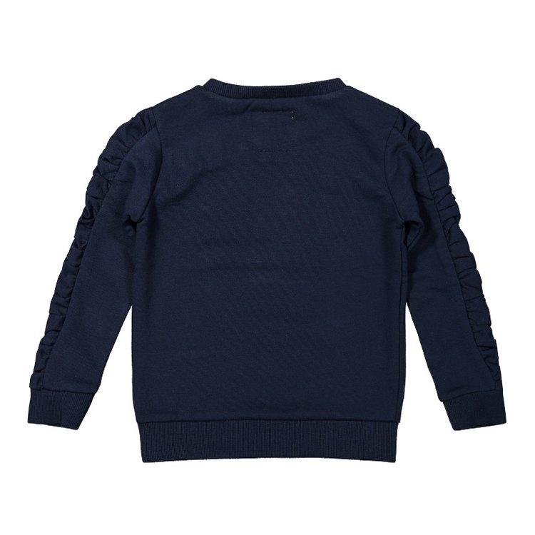 Koko Noko meisjes sweater donkerblauw | F40901-37