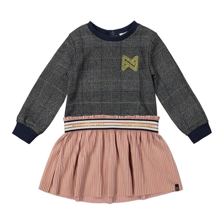 Koko Noko girls dress with plaid skirt | F40900-37