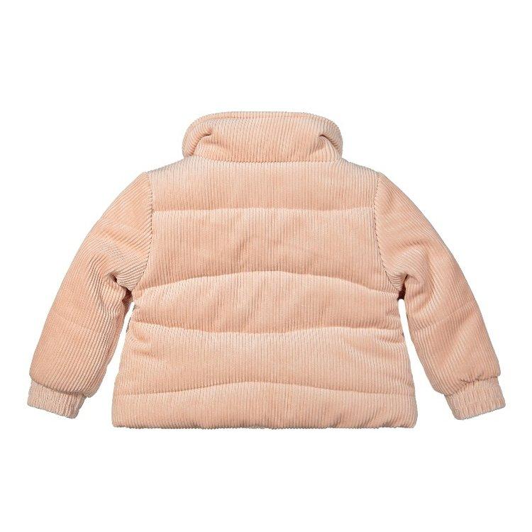 Koko Noko meisjes winterjas rib roze | F40904-37