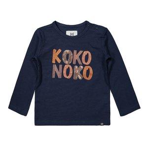 Koko Noko girls shirt dark blue