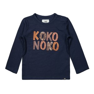 Koko Noko meisjes shirt donkerblauw