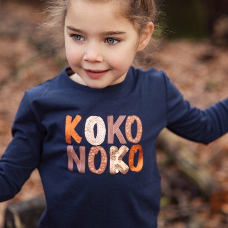 Koko Noko meisjes shirt donkerblauw   F40906-37