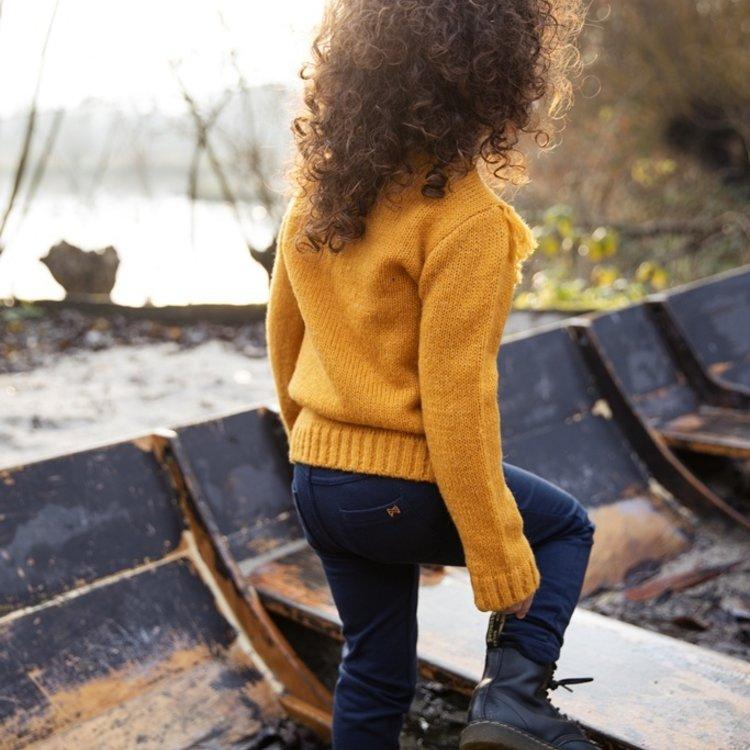 Koko Noko meisjes trui okergeel | F40911-37