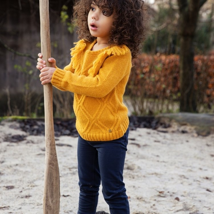 Koko Noko girls sweater ochre yellow | F40911-37