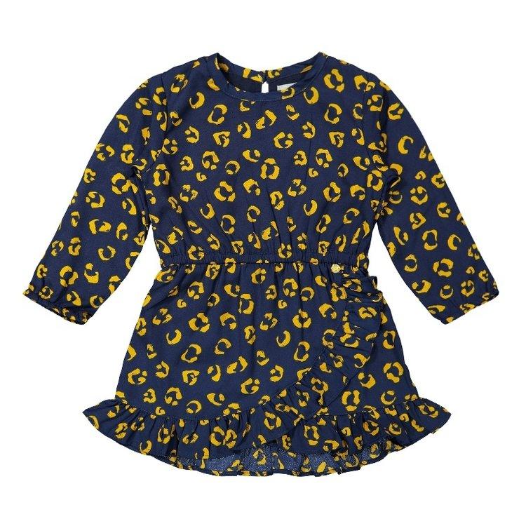 Koko Noko Mädchen Panther Kleid dunkelblau ocker   F40912-37