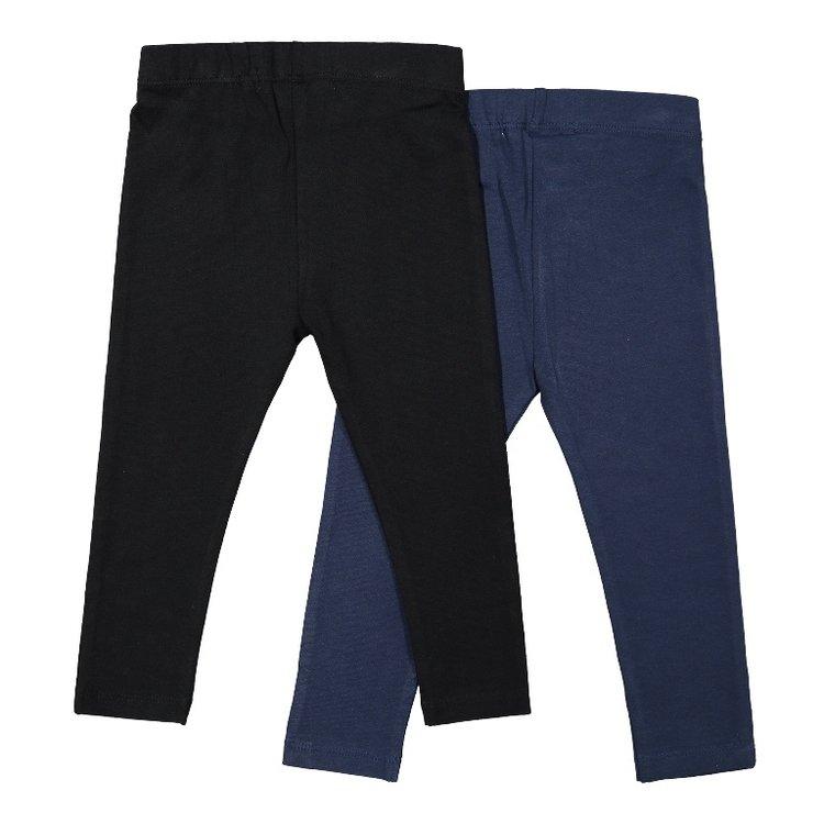 Koko Noko girls legging 2-pack dark blue black | F40913-37
