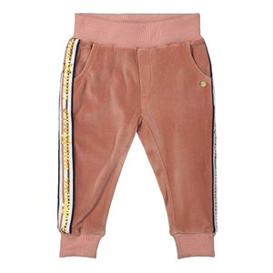 Koko Noko girls velvet pants old pink