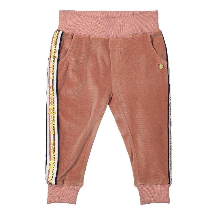 Koko Noko girls velvet pants old pink | F40915-37