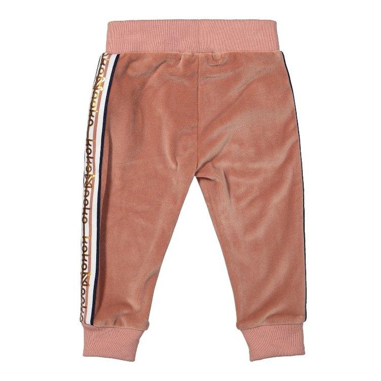 Koko Noko meisjes broek oudroze velours | F40915-37