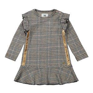 Koko Noko Mädchen kariertes Kleid grau