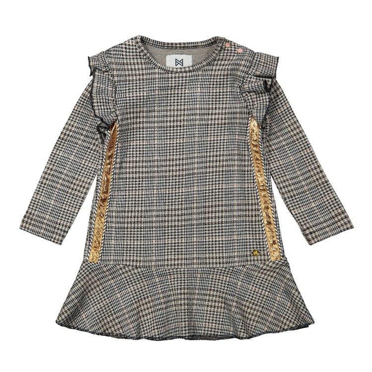 Koko Noko girls plaid dress gray   F40920-37