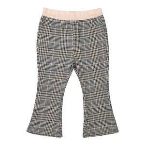 Koko Noko meisjes grijs geruite flared broek