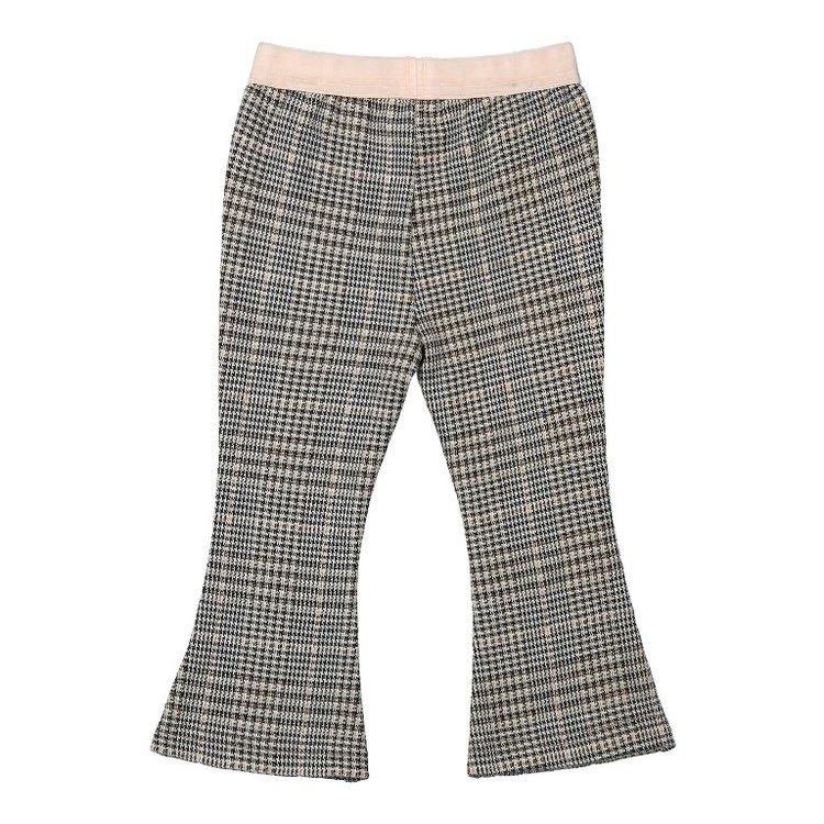 Koko Noko girls gray plaid flared pants | F40923-37
