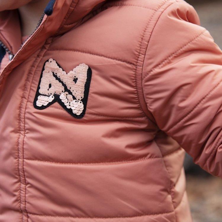 Koko Noko meisjes winterjas oudroze met capuchon   F40929-37