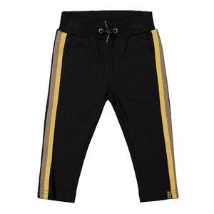Koko Noko meisjes jogging broek zwart okergeel
