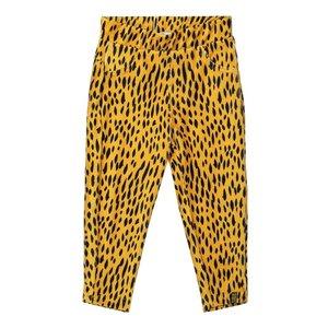 Koko Noko girls tregging ochre yellow leopard print