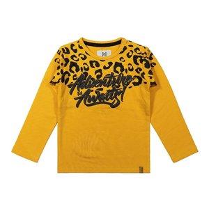 Koko Noko meisjes shirt okergeel met panterprint