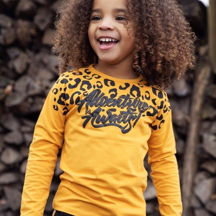 Koko Noko Mädchen Shirt ocker mit Panther Druck | F40935-37