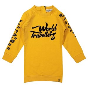 Koko Noko girls sweat dress ocher yellow