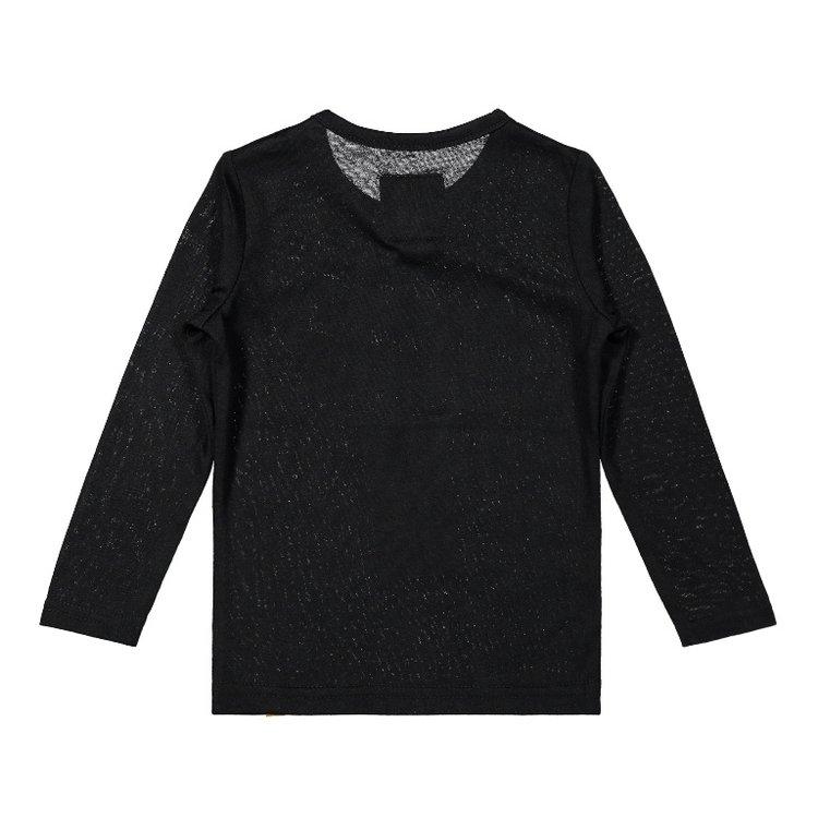Koko Noko meisjes shirt zwart | F40941-37
