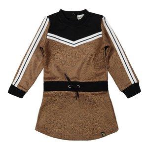 Koko Noko meisjes jurk camel zwart