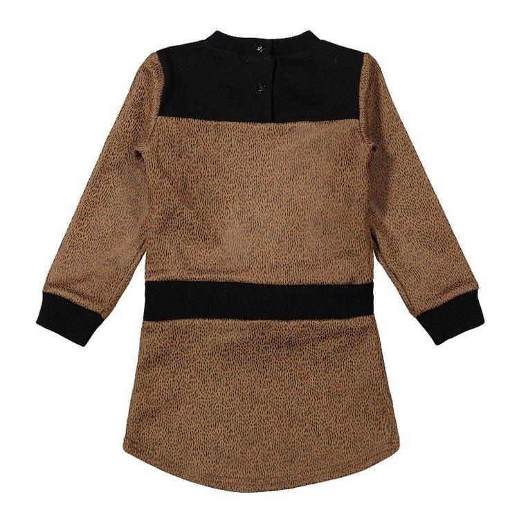 Koko Noko girls dress camel black | F40943-37