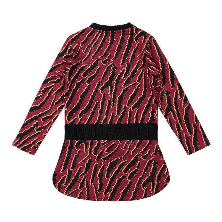 Koko Noko girls dress bordeaux red black | F40952-37