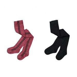 Koko Noko meisjes maillot 2-pack bordeaux rood en zwart