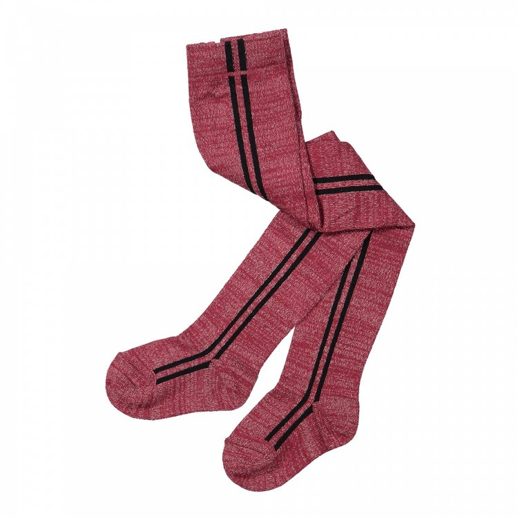 Koko Noko girls tights 2-pack bordeaux red and black | F40953-37