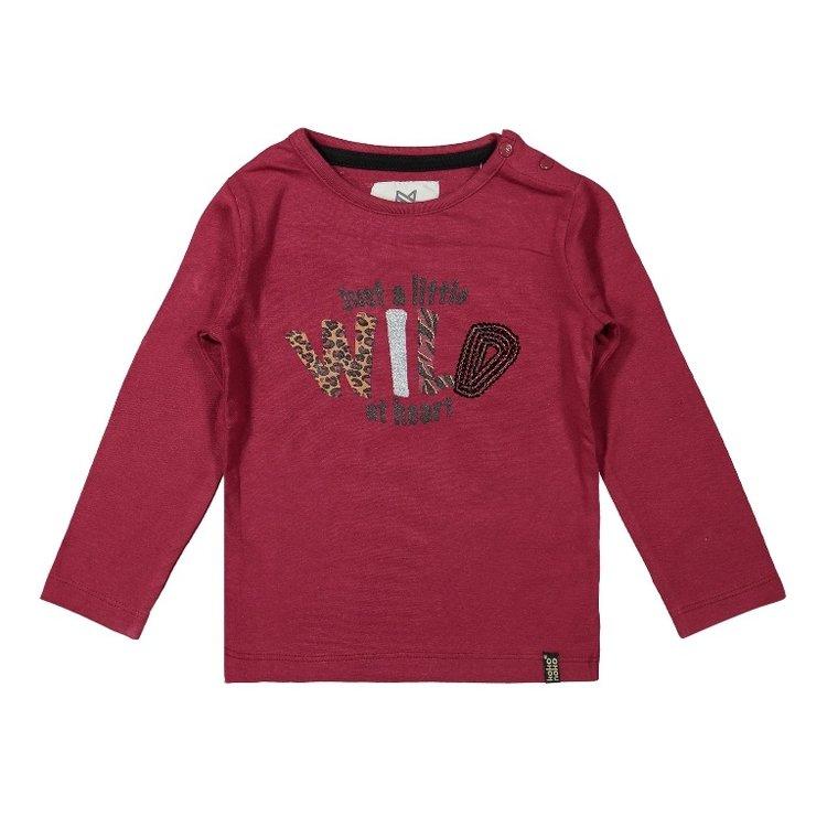 Koko Noko meisjes shirt bordeaux rood   F40954-37