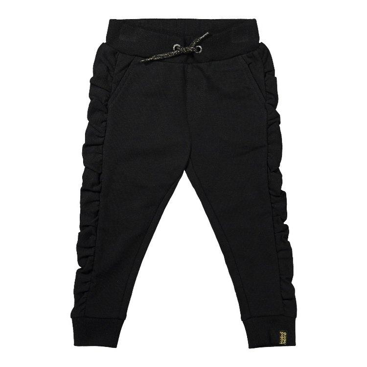 Koko Noko meisjes jogging broek zwart | F40955-37
