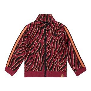 Koko Noko girls cardigan bordeaux red tiger print