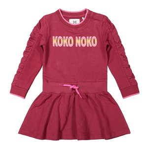 Koko Noko girls dress bordeaux red black