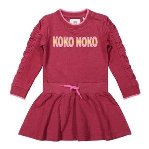 Koko Noko meisjes jurk bordeaux rood zwart