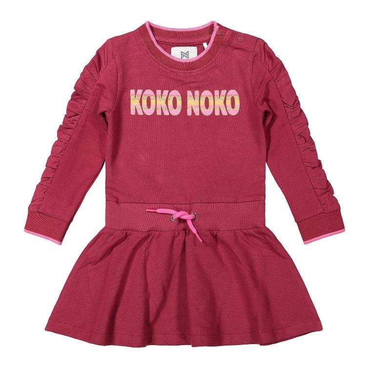 Koko Noko girls dress bordeaux red black   F40961-37