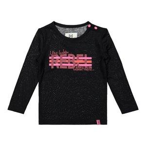 Koko Noko girls shirt black pink