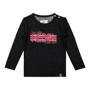 Koko Noko meisjes shirt zwart roze